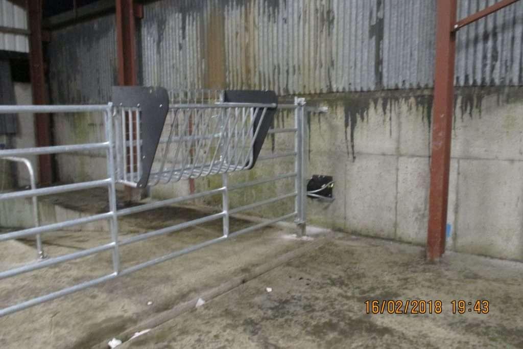 hayrack hook on gate